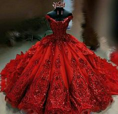 quince dresses Ru Haute Couture - New Wedding Dress Red Ball Gowns, Ball Gown Dresses, Ball Gowns Evening, Red Gowns, Ball Gowns Prom, Evening Dresses, Masquerade Ball Gowns, Afternoon Dresses, Evening Party