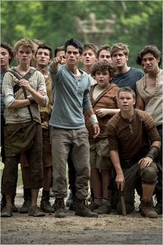 Le Labyrinthe : Photo Blake Cooper, Dylan O'Brien, Thomas Brodie-Sangster, Will Poulter