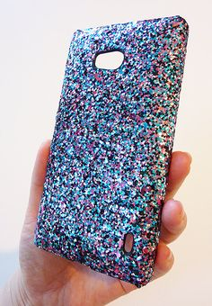 For Nokia Lumia Icon 929 Multicolor Specks Sequin Phone Case Cover by Yunikuna