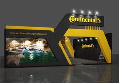 Continental - Exposibram on Behance Exhibition Stall Design, Showroom Design, Exhibition Display, Kiosk Design, Signage Design, Display Design, Entrance Signage, Entrance Design, Workshop Design