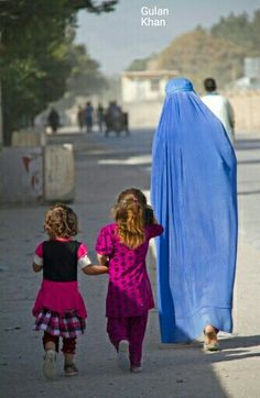 Awesome cute children & his mother, Afghanistan