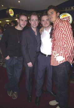 Dominic Monaghan, Billy Boyd, Elijah Wood, and Orlando Bloom