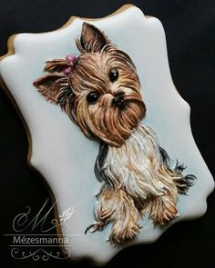 #dog #cute #yorkie #icing #3d #handmade
