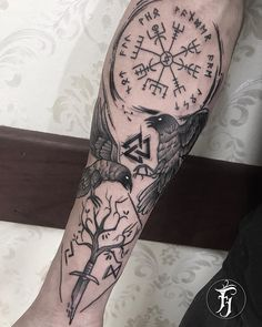 on Inspiration Tattoos of Hannah Viking Tattoo Symbol, Norse Tattoo, Viking Tattoo Design, Celtic Tattoos, Viking Tattoos, Forearm Tattoos, Body Art Tattoos, Sleeve Tattoos, Tattoos Masculinas
