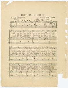 One of hundreds of thousands of free digital items from The New York Public Library. Music Paper, New York Public Library, Irish, Sheet Music, Digital, Words, Free, Irish Language, Ireland