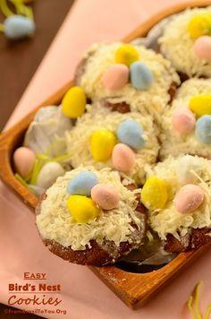Easy birds nest cookies
