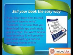 This app is one of the most guides when you are planning to start writing a book or looking forward to improve your present book writing skills. With the help of this handy app in your smartphones, you can develop a professional base of writing and start earning easy money from your book in just 7 days. http://innateapps.com/7DaysToEasyMoneyGetPaidToWriteABook.php