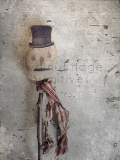 Primitive Epattern Snowman Stick plus Ornament by wrprimitives, $10.00