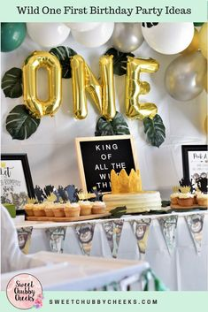 Children's book lovers will adore this Where the Wild Things Are themed first birthday party! Get all the details to pull together this fabulous birthday event! #sweetchubbycheeks  #wherethewildthingsare #boysbirthday #girlbirthday #firstbirthday