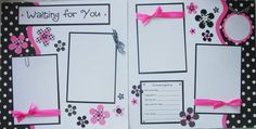 Black and Pink Pregnancy Scrapbook Page - Etsy