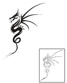 Tribal Dragon Tattoos SMF-00017 Created by Stephen Munzer
