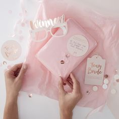 Hen do Party Game Kit Pass the Parcel // Pink // Team Bride // Rose Gold Foiled// Gold Hen Do Party Games // Winner Gasses/ Forefit Cards Team Bride, Classy Hen Party Games, Party Fun, Pass The Parcel Game, Game Pass, Classy Hen Do, Pink Wrapping Paper, Gift Wrapping, Cute Presents