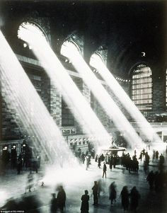 New York City: The main concourse of Grand Central Terminal, in New York, is seen from the Campbell apartment in this 1937 photo. The posh apartment, in one of America's grandest train stations, was the playground of financier John Campbell in the roaring 1920. via solavaya