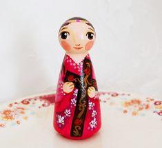 St Julia of Corsica Catholic Saint Doll  Wooden by SaintAnneStudio, $48.00