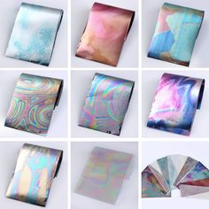12 Colors/set Starry Sky Nail Foils Nail Stickers Multicolor 4*16 cm DIY Manicure Nail Art Transfer Sticker Nail Decoration
