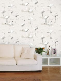 Cole and Son Flamingos Wallpaper - 95/8046