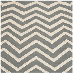 Cambridge Dark Gray/Ivory 6 ft. x 6 ft. Square Area Rug
