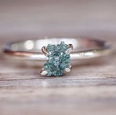 BACK IN STOCK  Raw Ocean Diamond Ring  Available in our 'Earthly Treasures' Collection  www.indieandharper.com