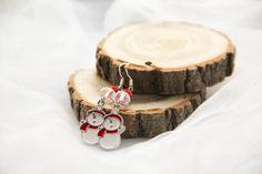 Серьги со снеговиками из эмали #снеговик #новыйгод #зима #подарок