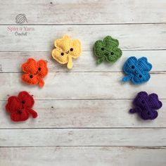 Crochet Shamrock pattern / Four leaf Clover St. Patricks Day | Etsy Crochet Keychain Pattern, Crochet Amigurumi Free Patterns, Free Crochet, Irish Crochet, Knitting Patterns, Thread Crochet, Crochet Yarn, Crochet Leaves, Afghan Crochet