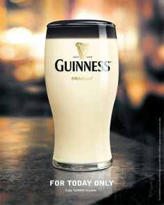 Great Guiness April Fools print ad.
