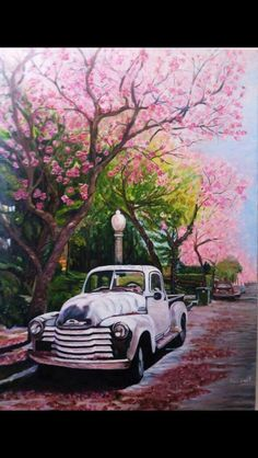Araba Car Painting, Old Trucks, Les Oeuvres, Watercolor Paintings, Art Drawings, Scenery, Canvas Art, Sketches, Illustrations