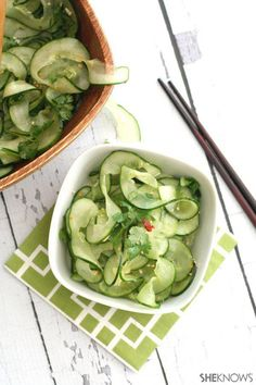 Low-carb Thai cucumber salad...I really liked this, it's a tasty, easy, side.