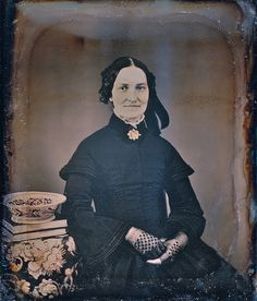 Woman, probably in second-stage mourning, 1/6th-Plate Daguerreotype, Circa 1849
