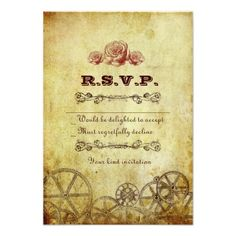 Discount DealsVictorian Steampunk RSVP Card w/ envelopes Invitationswe are given they also recommend where is the best to buy