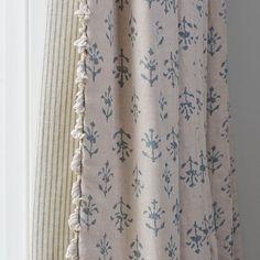 Cosy Home Interior Marine Blue Moonflower Printed Linen Printed Curtains, Linen Curtains, Printed Linen, Curtains With Blinds, Drapery, Curtain Fabric, Hallway Curtains, Cottage Curtains, Valances