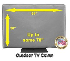60 Outdoor TV Cover *Top Premium Quality* Weather Resistant* Soft Non Scratch Interior* Made In USA* (Televisions up to Outdoor Tv Covers, The Originals Tv, Reading, How To Make, Kids, Top, Gray, Weather, Televisions