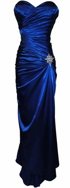 I found 'Royal Blue Satin Prom Dress Pleated Bodice Strapless Sweetheart Neck (15 Colors Available)' on Wish, check it out!