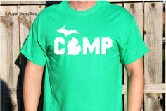 Camp Michigan Shirt Camping Michigan Shirt by RoyalMajesTees