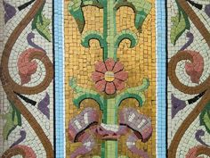 Magasin Valton, rue d'Antrain, mosaïques de Odorico