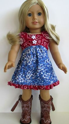 American Girl Doll Clothes - fun use of bandanas