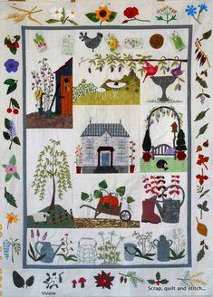 Scrap,quilt and stitch: Dans le jardin de grand-mère...