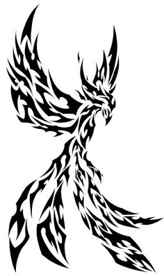 Tribal phoenix by on deviantart tattoos Tribal Animal Tattoos, Tribal Phoenix Tattoo, Tribal Animals, Phoenix Tattoo Design, Tribal Tattoo Designs, Phoenix Tattoos, Rune Tattoo, Diy Tattoo, Dark Drawings