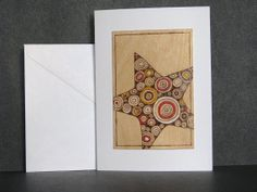 Blank Star Cards  Wood Pyrography  Christmas Star by bkinspired, $6.00