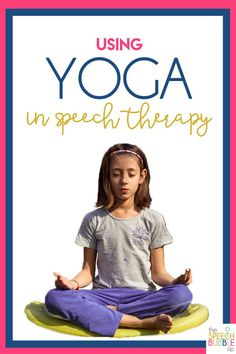 Ever wonder how to incorporate YOGA into your speech therapy sessions?! Here are some great tips and tricks to target speech goals with your students in this fun and calming way! #SLP #SPED #SpeechTherapy #outdoors #meditate #classroom #SPD #sensory #ASD