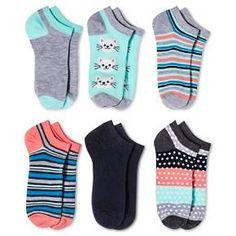Women's Low-Cut Socks 6-Pack Cats Green One Size - Xhilaration™ : Target