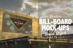 Realistic Billboard Mock-ups by Aesthetic Art & Design on @creativemarket