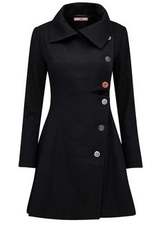 Joe Browns 'Ultimate' Black Coat Size Gorgeous button pattern down back too! Blazer Outfits, Blazer Dress, Coat Dress, Coats For Women, Jackets For Women, Clothes For Women, Stil Inspiration, Mein Style, Plus Size Coats