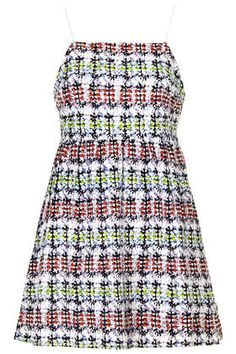 Petite Ikat Broderie Babydoll Dress
