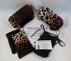 "Wild Thick Leopard Fleece Crutch Pads:  Saves your Arm by myscap       2"" bounce back padding... no pain! 100% polyester fleece,   Machine wash gentle    Fun, Fashion & Comfort = winning combination!"