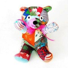 Patchwork Teddy Bear (small)