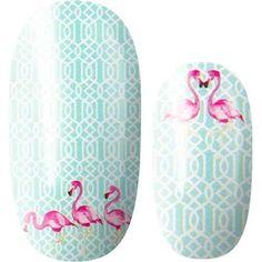 Flamingo Nails, Pink Flamingos, Fox Nails, Manicure At Home, Nail Polish Strips, Color Street Nails, Nail Wraps, Summer Nails, Pretty Nails
