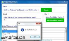 Downloading USB Hidden Folder Fix has never been so easy! For USB Hidden Folder Fix windows version installer visit Softpaz - https://www.softpaz.com/software/download-usb-hidden-folder-fix-windows-39199.htm and download at the highest speed possible in this universe!