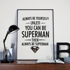 Superman Quote Canvas Art Print Poster, Wall Pictures for Home Decoration, Frame…