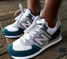 "Custom New Balance 574 ""Heather Grays"""