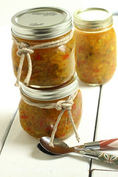 Sweet and Spicy Zucchini Relish|Craving Something Healthy. I dream of making my own relishes & chutneys one day!